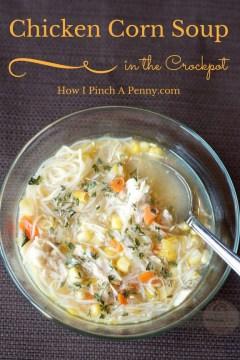 Crockpot Chicken Corn Soup recipe