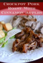 Crockpot Pork Roast with Cinnamon Apples recipe