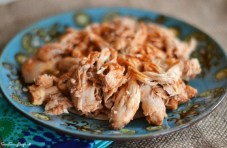 Easy Manwich Crock Pot Pulled Chicken recipe