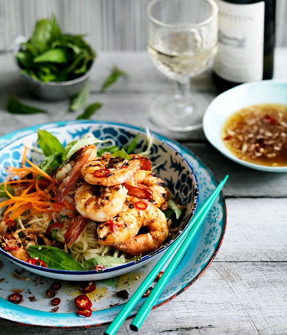Grilled Prawn and Green Mango Salad