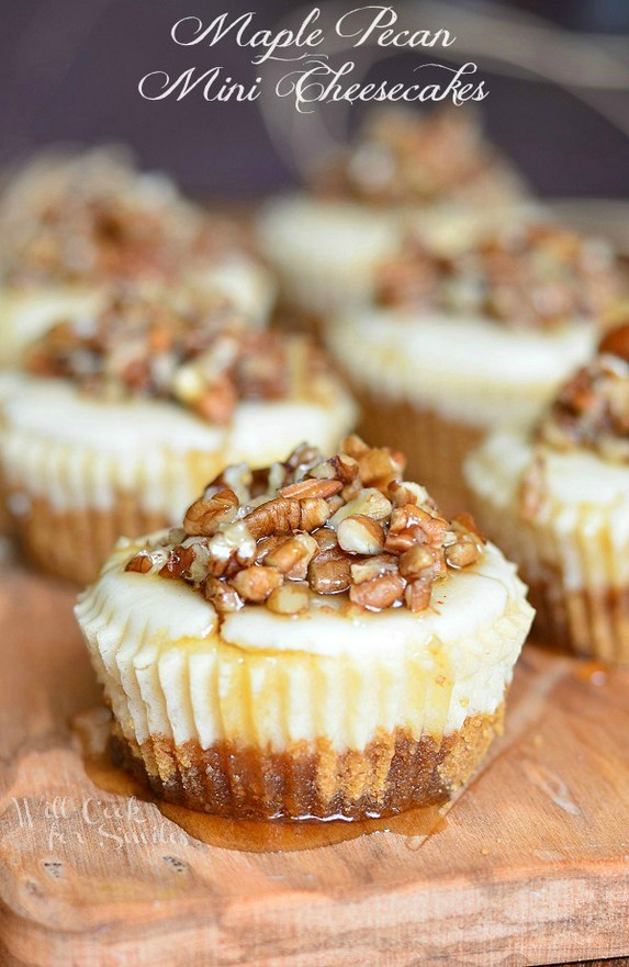 Maple Pecan Mini Cheesecakes by Will Cook For Smiles