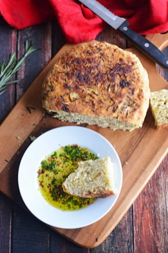Rosemary Olive Oil Crock Pot Bread recipe