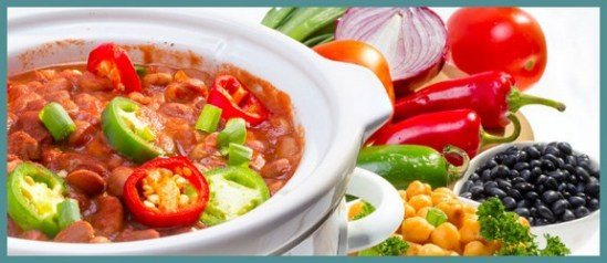 Simple Savory Vegan Crock Pot Chili recipe