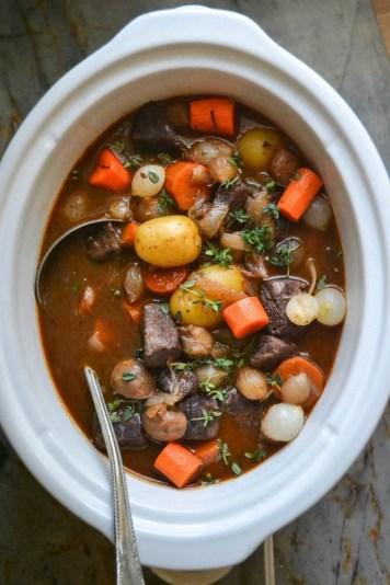Slow Cooker-Crock Pot Beef Bourguignon recipe