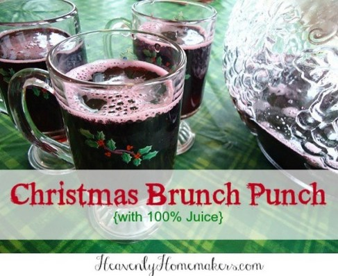 Christmas Brunch Punch from Heavenly Homemakers