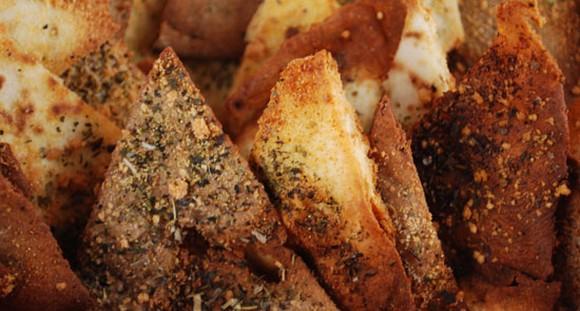 Garlic Parmesan Pita Chips