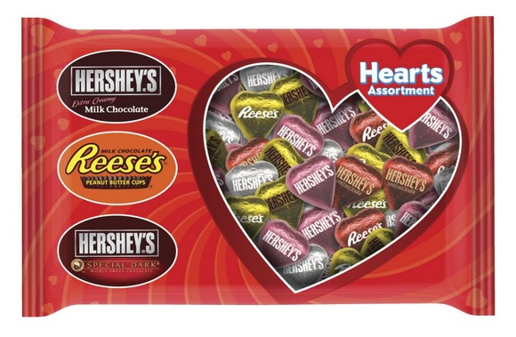 Hershey's Valentine's Assorted Hearts, 15 Ounce Bag