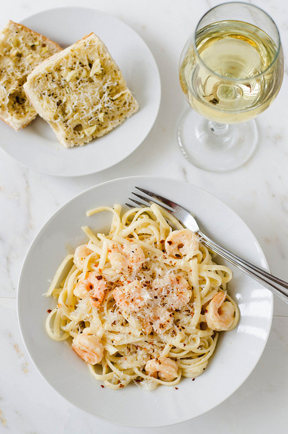 Shrimp Scampi with Fettuccine recipe