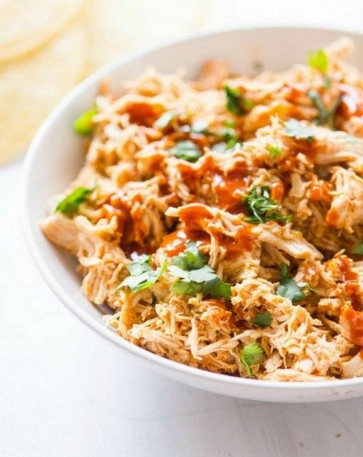 4-Ingredient Crockpot Chicken Tacos