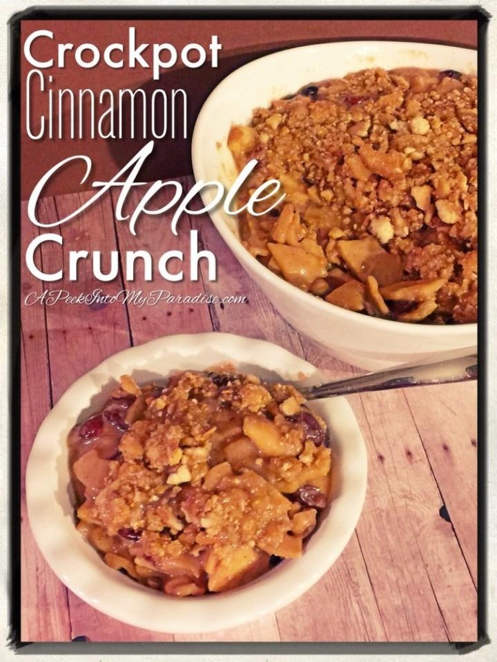 Crockpot Cinnamon Apple Crunch