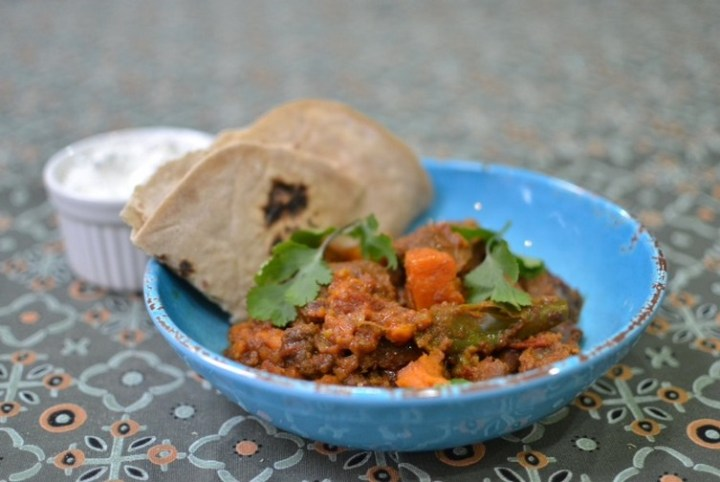 Slow Cooked Spiced Mutton Shoulder with Ginger and Sweet Potato