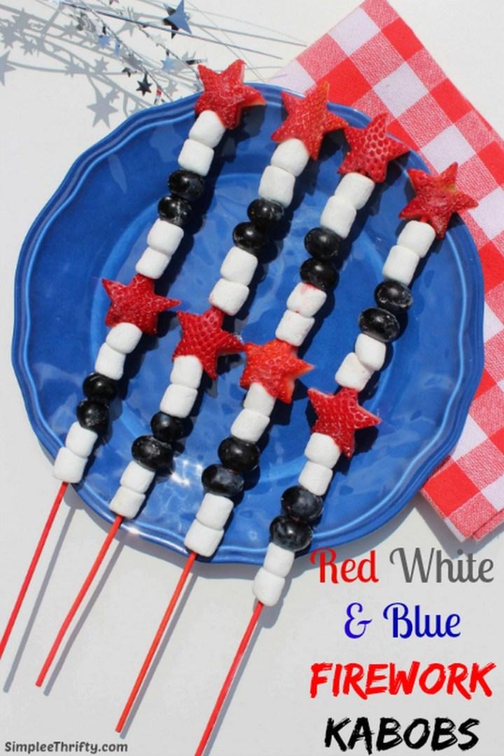 Red White & Blue Firework Kabobs