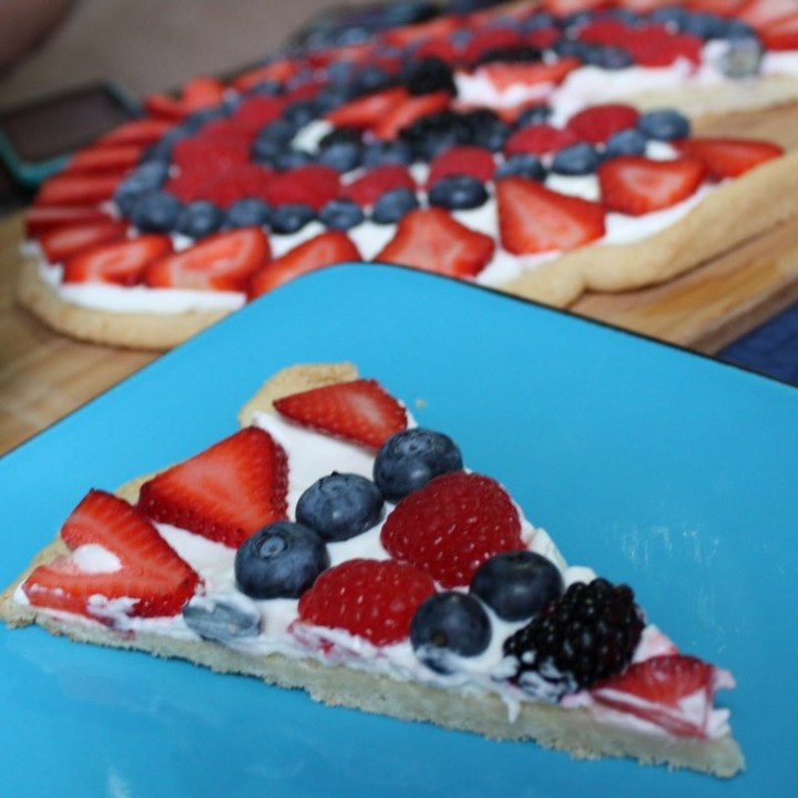 Red, White, and Blue Fruit Cookie