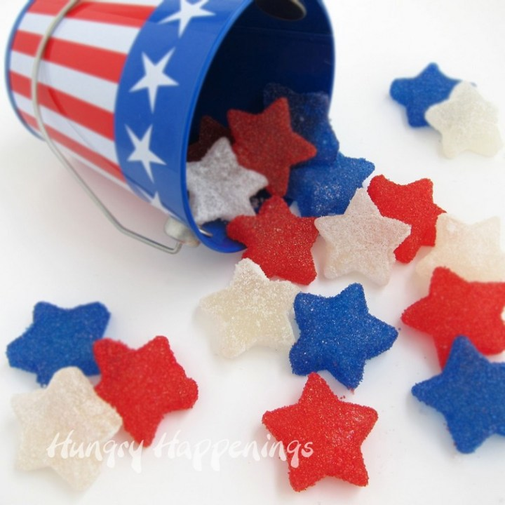 Red, White, and Blue Gumdrops