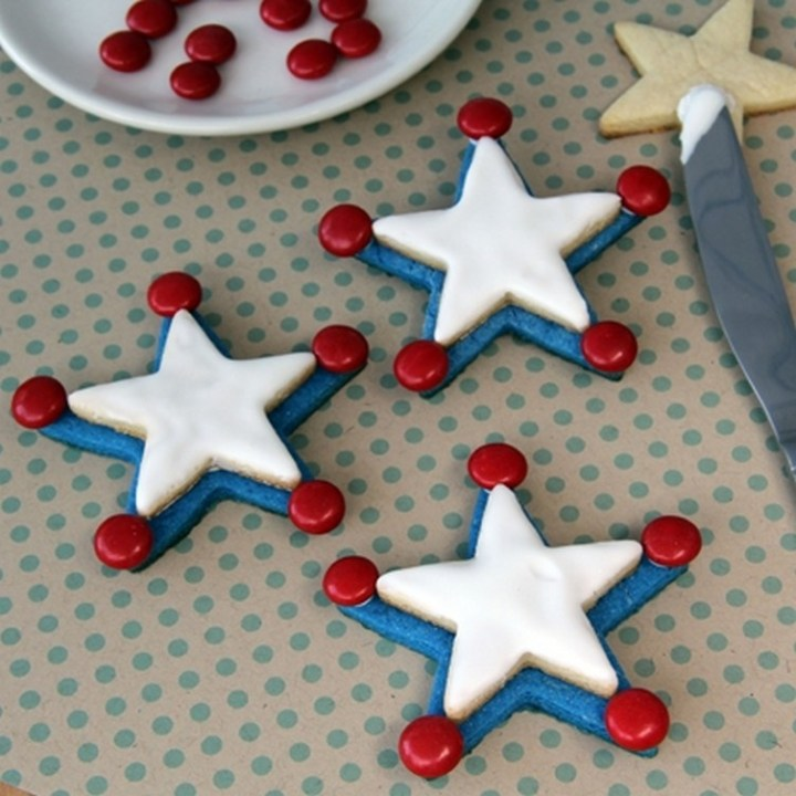 Woody's Independence Day Badge Cookies