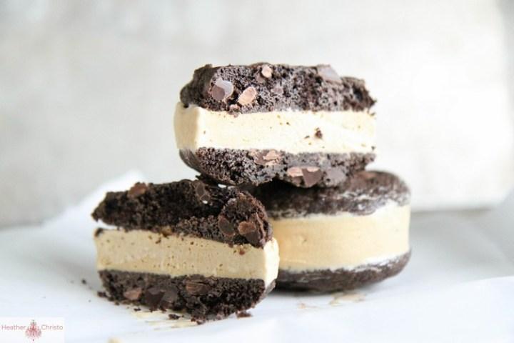 Chocolate Coffee Ice Cream Sandwiches