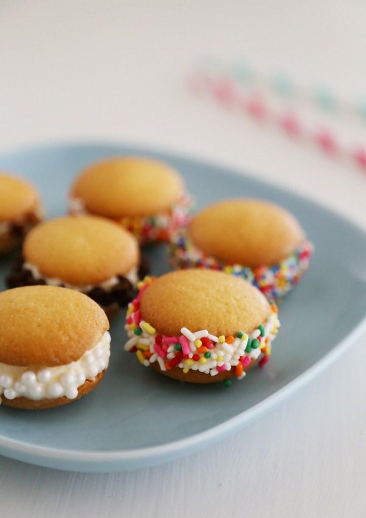 Mini Vanilla Wafer Ice Cream Sandwiches
