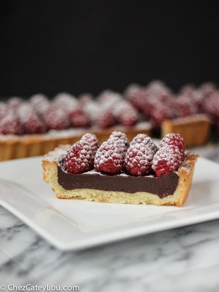 Raspberry Chocolate Tart