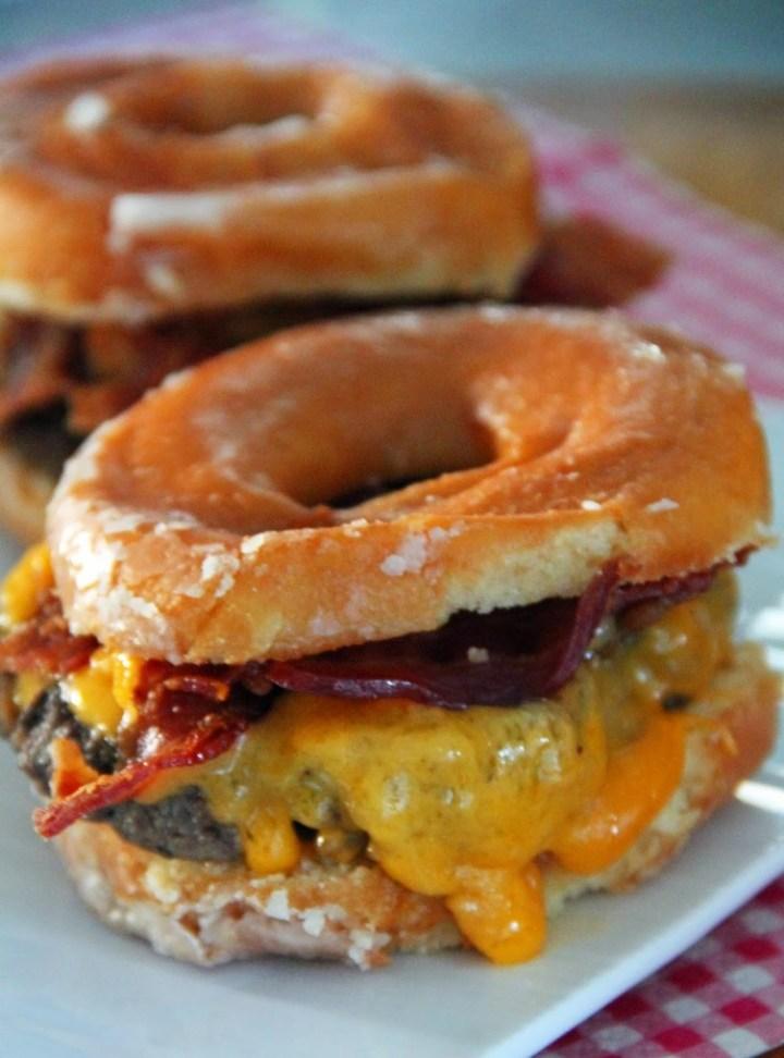 Donut Bacon Cheeseburger