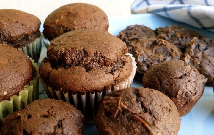 Weight Watchers 2 Ingredient Chocolate Pumpkin Muffins