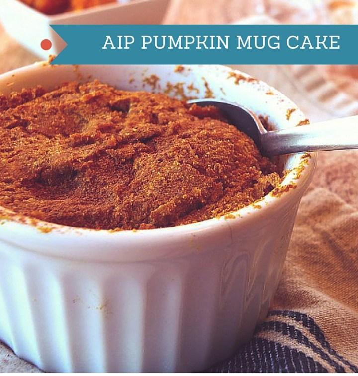 AIP Pumpkin Mug Cake
