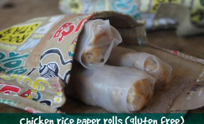 Gluten Free Chicken Rice Paper Rolls