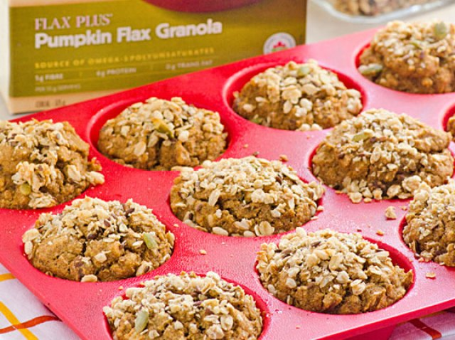 Pumpkin Granola Muffins