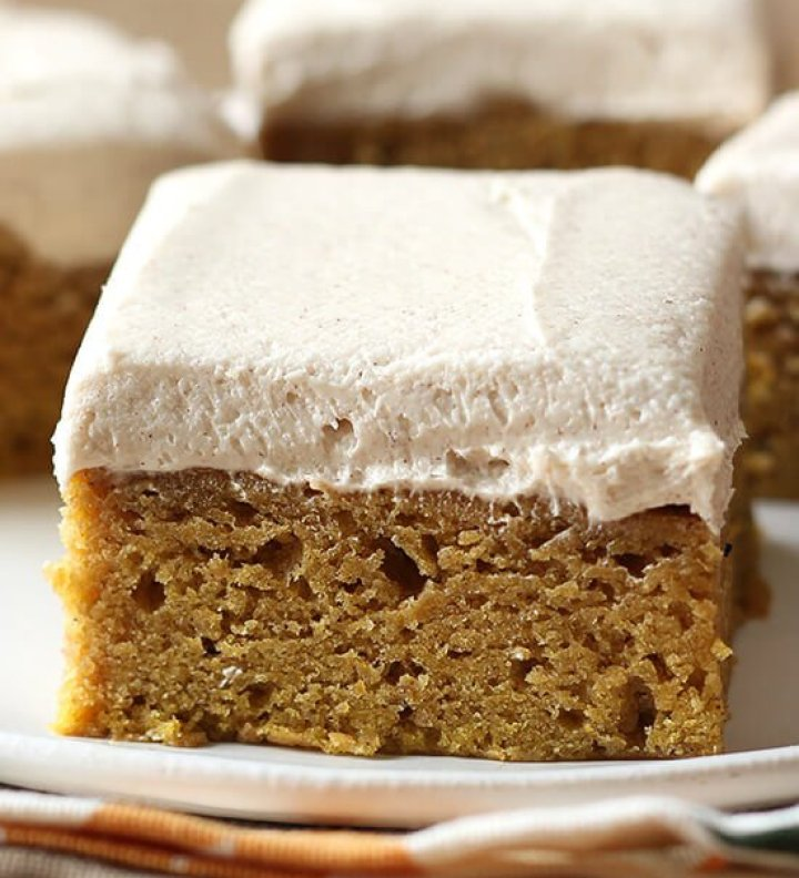 Pumpkin Bars with Brown Sugar Frosting