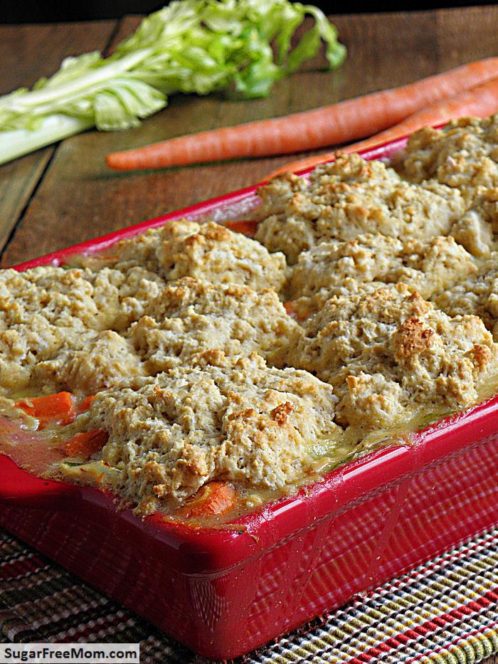 Gluten Free Chicken or Turkey Biscuit Pot Pie