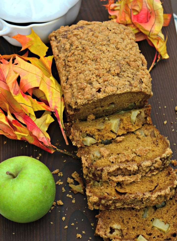 Pumpkin Apple Bread with Garam Masala