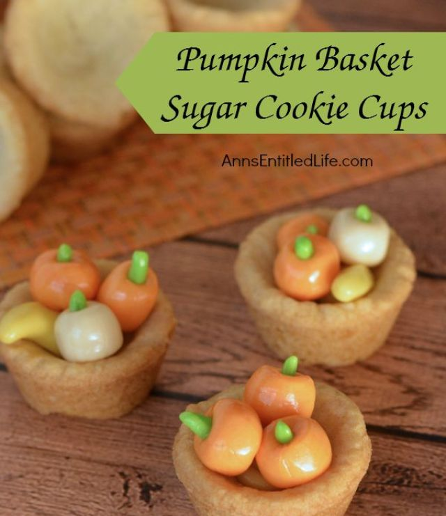 Pumpkin Basket Sugar Cookie Cups Recipe