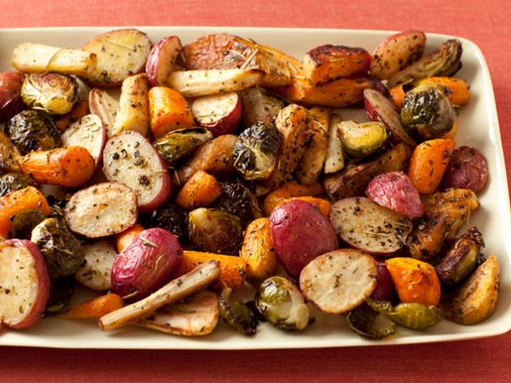 Giada's Roasted Potatoes, Carrots, Parsnips and Brussels Sprouts Recipe