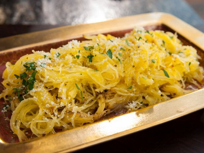 Roasted Spaghetti Squash with Parmigiano-Reggiano and Truffle Oil Recipe