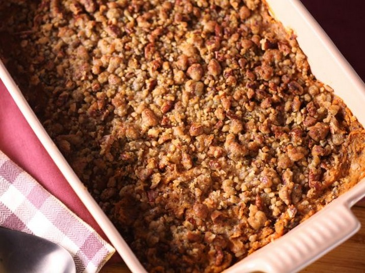 Sunny's Sage and Pecan Sweet Potato Casserole Recipe
