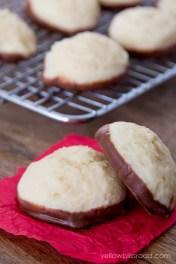 Chocolate Dipped Cheesecake Cookies recipe