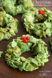 Christmas Cornflake Wreaths recipe