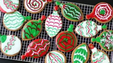 Christmas Ornament Gingerbread Cookies recipe