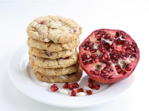 Pomegranate White Chocolate Chunk Cookies recipe