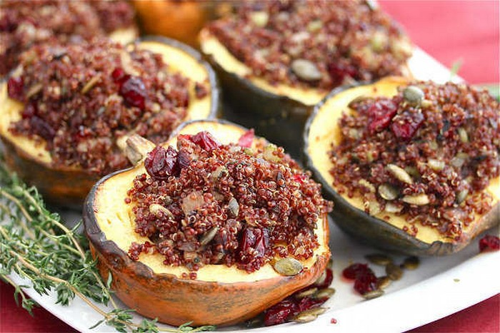roasted-acorn-squash-stuffed-with-quinoa-mushroom-pilaf-recipe-from-onegreenplanet