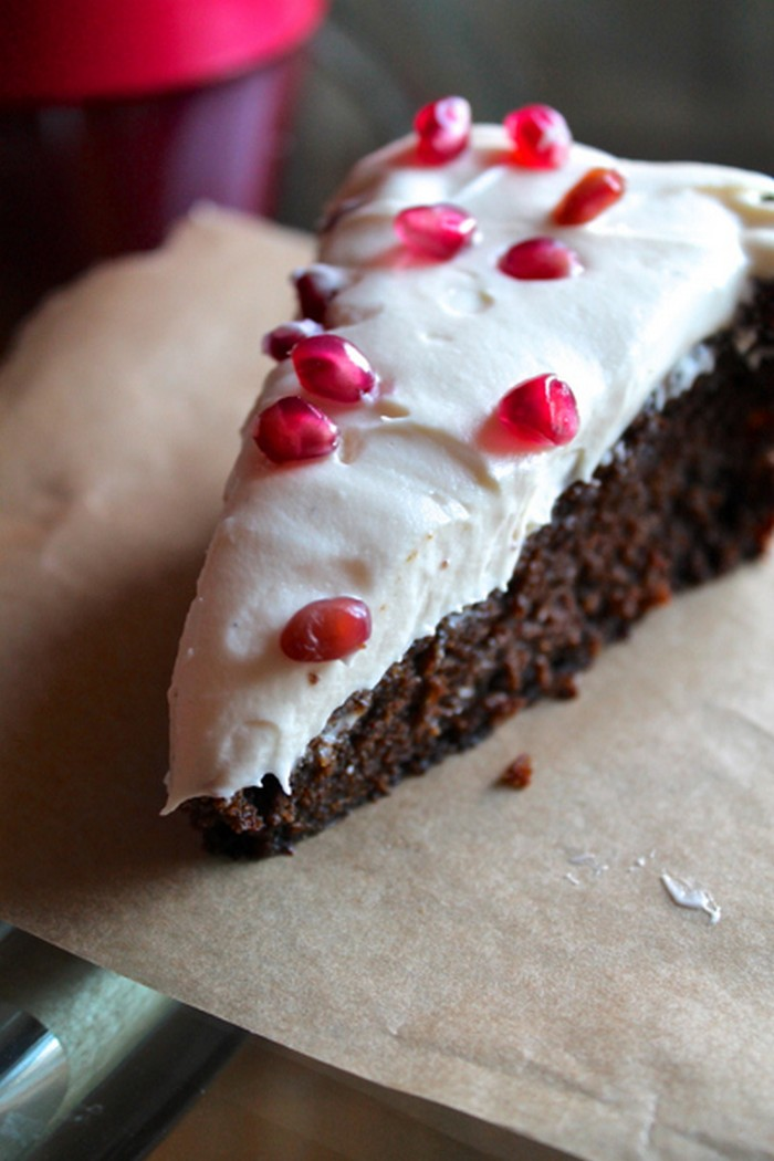 Orange Gingerbread Cake With Cream Cheese Frosting