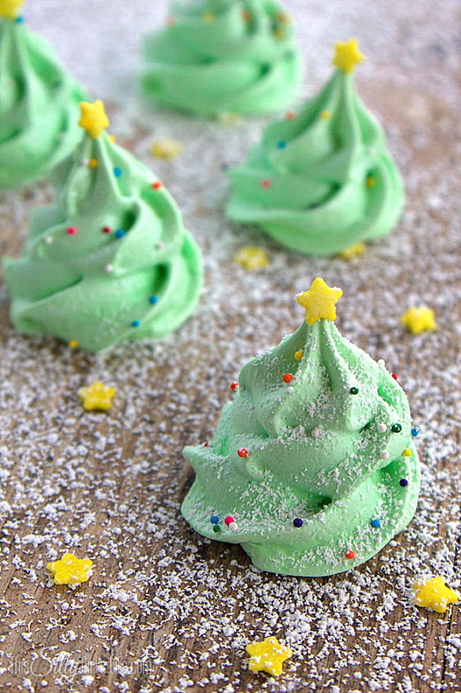 Christmas Tree Meringue Cookies Recipe