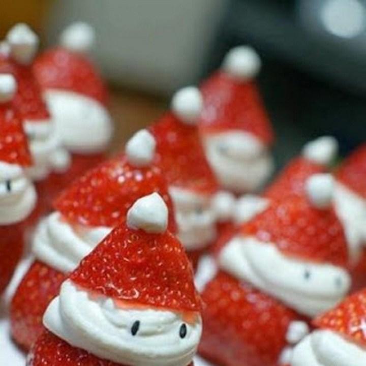 Make Santa strawberries for a no-cook snack