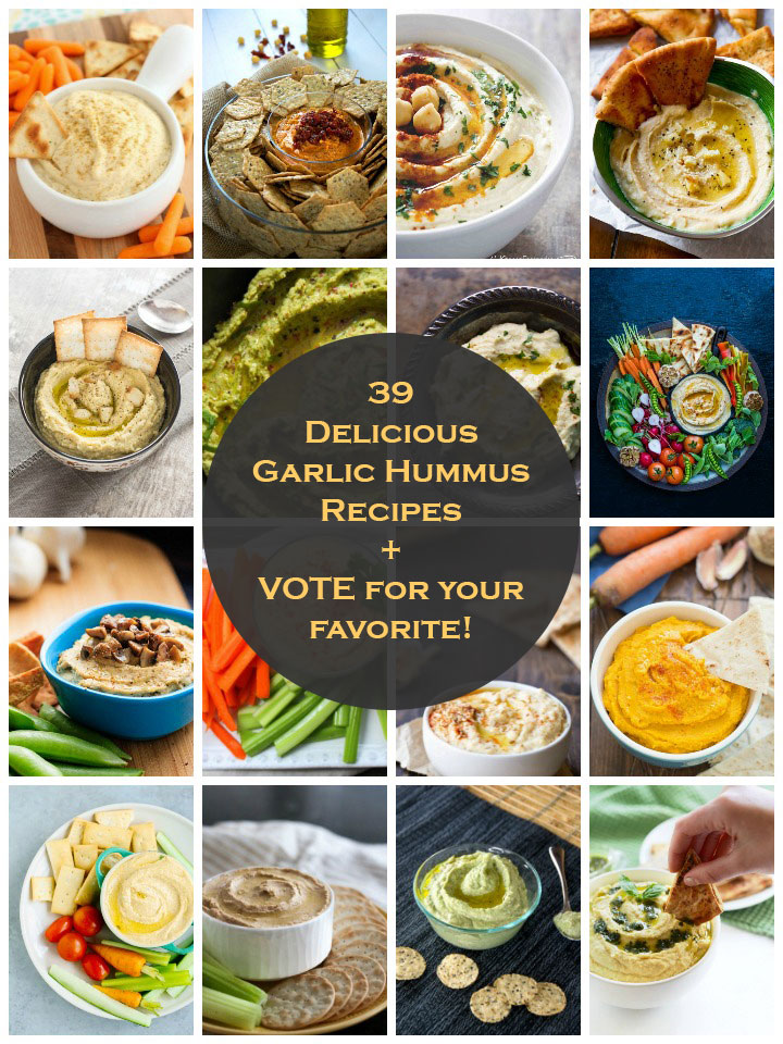 Best 39 Garlic Hummus Recipes on the Net – VOTE for your favorite!