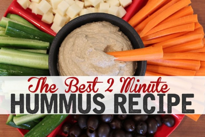 Garlic & Olive Hummus Recipe - A Little Insanity