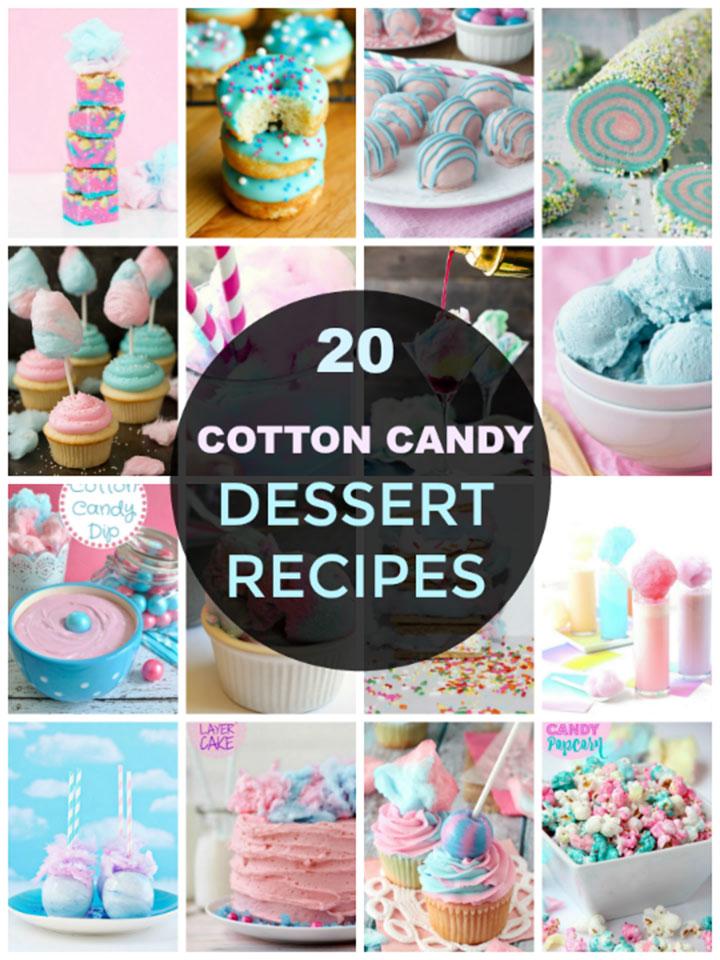 20 Cotton Candy Dessert Recipes