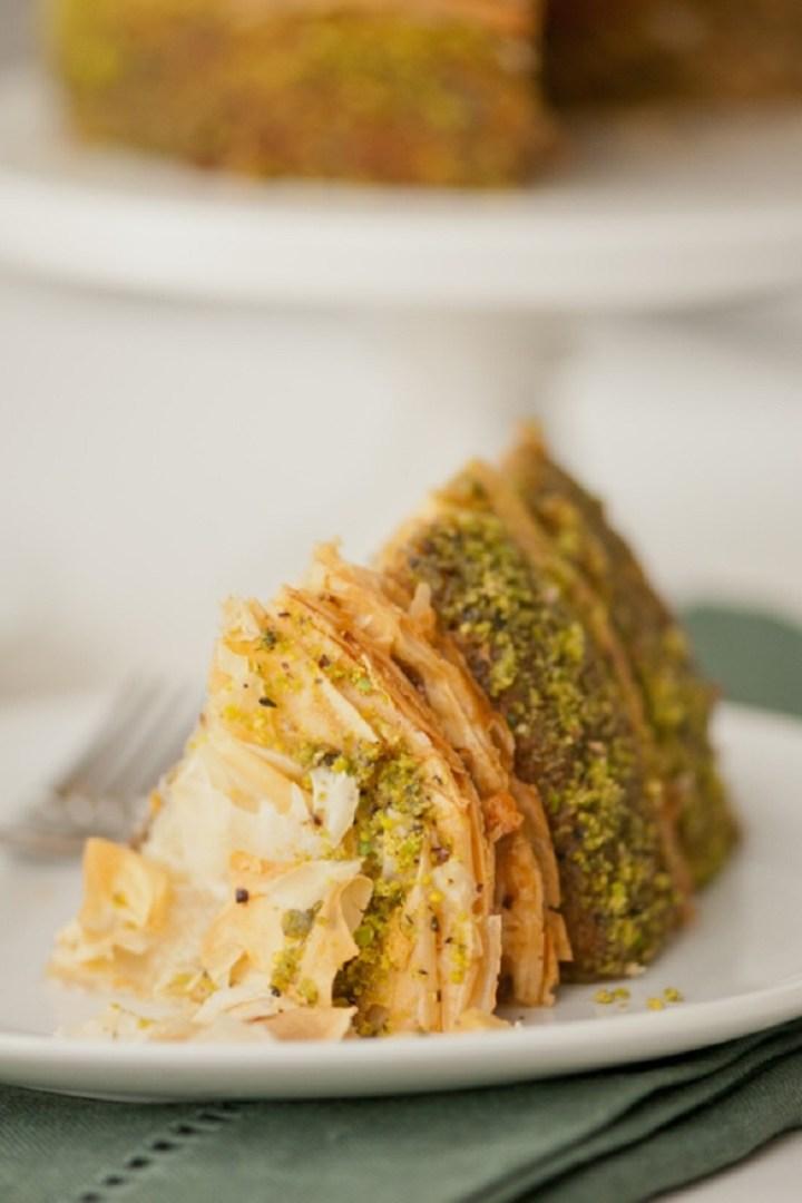 Pistachio Baklava Cake Recipe