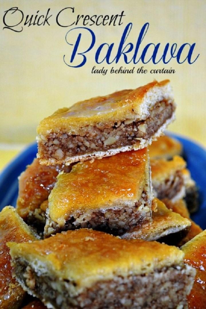 Quick Crescent Baklava Recipe