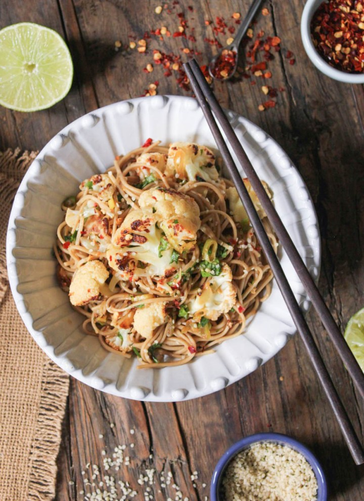 http://domesticate-me.com/ginger-scallion-soba-noodles-roasted-cauliflower/