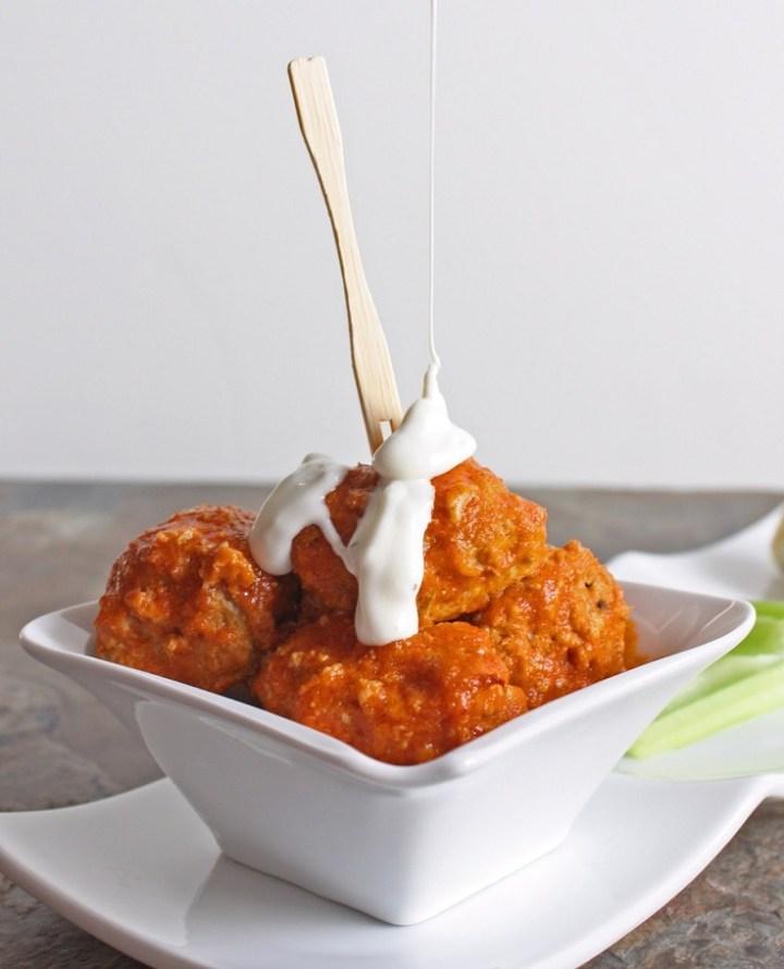 Buffalo Baked Chicken Balls recipe