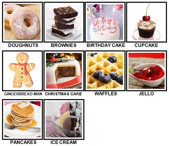 100 Pics Desserts Answers